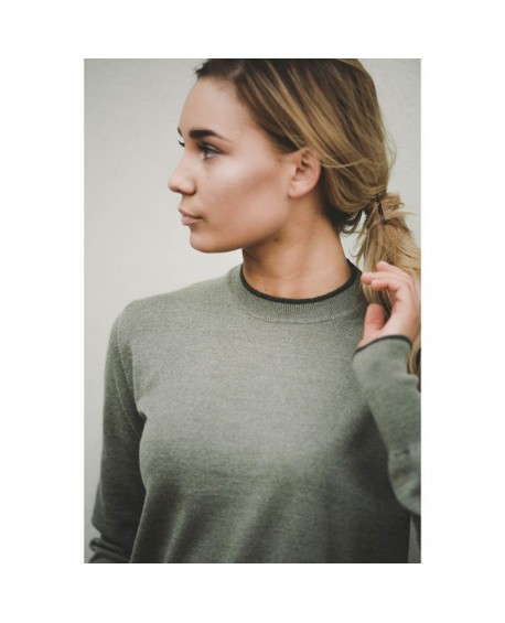 A·Equipt Philippa Uld Sweater Sage Green