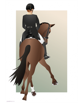 Plakat Travers Dressage Horse