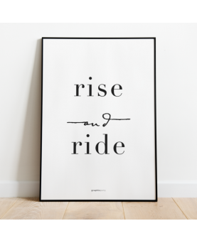 Plakat Rise and Ride