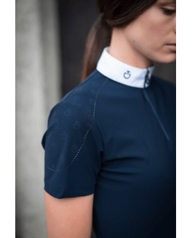 Mini CT Laser Beaded Motif L/S Competition Polo