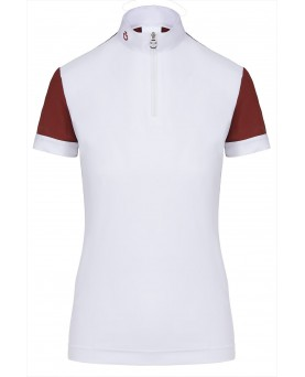 CT Turned Up Hem S/S Competition Zip Polo